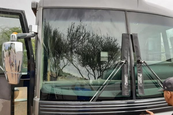 RV Windshield Replaced on 2003 Fleetwood American Eagle